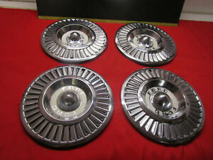 1957 Ford Thunderbird T Bird Turbine Hubcap Wheel Cover Complete Set