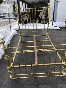 Antique Brass Bed Full Sized Double Headboard Footboard Brass Bed Frame