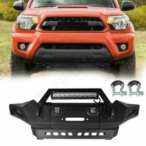 New Car Step Front Bumper Pickup For Toyota Tacoma 2005 2015 Black Steel