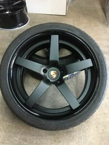 22 360 Forged Staggered Wheels Porsche Cayenne S turbo gts Newgoodyear F1 Tires