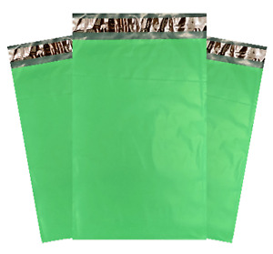 Green Poly Mailers Choose Size Quantity Small Or Large Thick 2 35mil