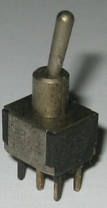 Three Position Mini Toggle Switch W Small Handle Dpdt 5a 120v On Off On