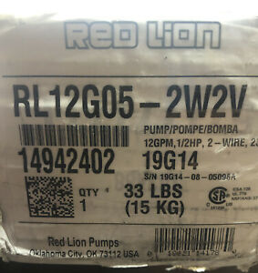 Red Lion 12 Gpm 1 2 Hp Deep Well Submersible Pump 2 wire 230v Return Item