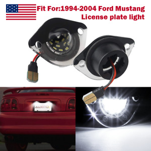Led License Plate Light Tag Lamp Assembly Replacement For Ford Mustang 1994 2004