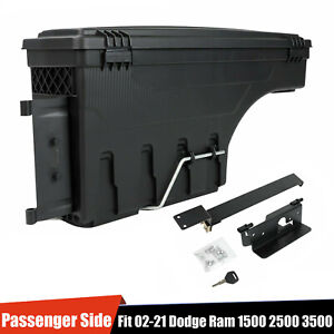 For Dodge Ram 1500 2500 3500 Lockable Storage Truck Bed Tool Box Passenger Side