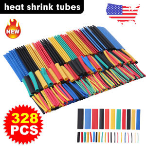 328pcs Car Assorted Electrical Cable Heat Shrink Tube Tubing Wrap Sleeve Kit