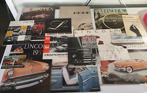 1954 1955 Lincoln Large Prestige Sales Brochures Lot Of 14 Pc Mexican Pan Am