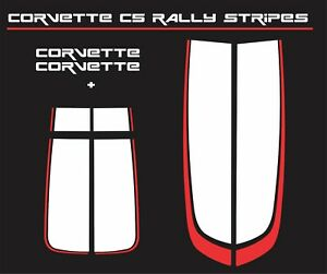 Corvette Chevrolet C5 Racing Stripes Rally Decal Kit 1997 04 White red Sale