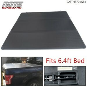 Fit For 2002 2018 Dodge Ram 1500 6 4 Bed Hard Tri Fold Hard Tonneau Cover