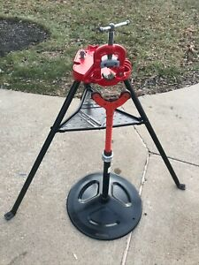 Ridgid 40a 1 8 To 2 1 2 Portable Tristand W 42505 46 Adj Pipe Support