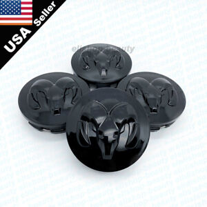 4pc Gloss Black Dodge Ram Wheel Hub Center Caps Covers 63mm 2 5 Inch 2013 2019