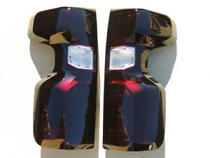 19 21 Silverado Smoked Tail Lights Oem Black Custom Tinted Non Led Halogen