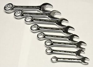Craftsman 8pc 12 Point Stubby Sae Inch Polished Combination Wrench Set