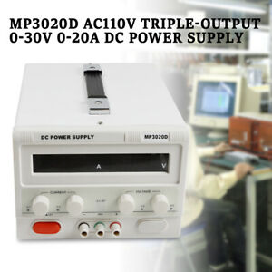 Dc Power Supply Regulated Variable Precision Adjustable Lab 0 30v 0 20a