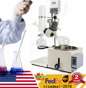 2l Lab Rotary Evaporator Manual Lifting Rotavapor Digital Condenser Good Seal