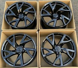 19 Nissan 370z Factory Wheels Rims Oem Gloss Black Rays Forged 370z Set Of 4