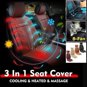 3 In 1 Car Seat Cover Cushion Pad Mat Cooling Warm Heated Massage Coffe Us