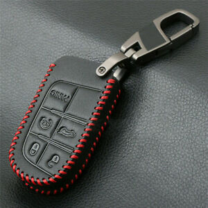 Remote Keys Fob Cover Leather Cases For Jeep Grand Cherokee Chrysler Dodge Fiat