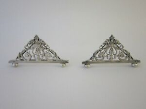 Antique Victorian Sterling Silver Menu Place Card Holders 1893 By Edward Hutton