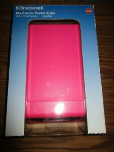 Brecknell Ps25 Electronic Portable Postal Parcel Scale 25 Lb X 0 2 Oz Pink