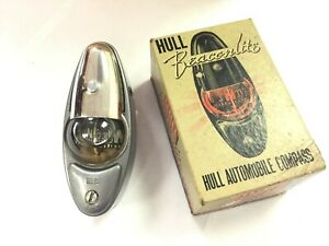 N O S Hull Beaconlite Automobile Compass For 1937 48 Chevy Car Grey Primed