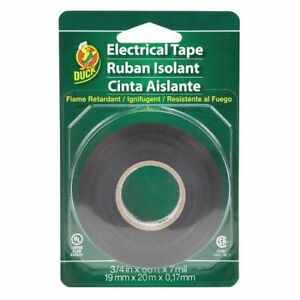 Duck 551117 Electrical Tape 0 75 In x 66 Yd Black