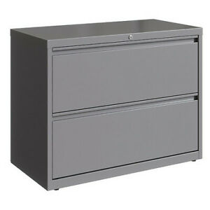 Hirsh 23744 2 Drawer Lateral File Cabinet Arctic Silver Legal letter