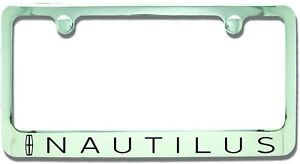 Lincoln Nautilus Chrome Plated Metal License Plate Frame Holder