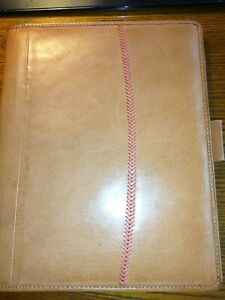 Rawlings Leather Portfolio Letter Size Pad Cover New In Box