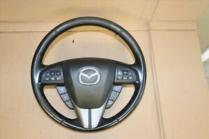 2010 2013 Mazdaspeed 3 Hatchback Turbo Oem Steering Wheel Black W Controls Srs