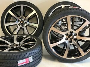 24 Wheels Rims Tires Cadillac Gmc Chevy Gloss Black Machined Package 6x139m Gm