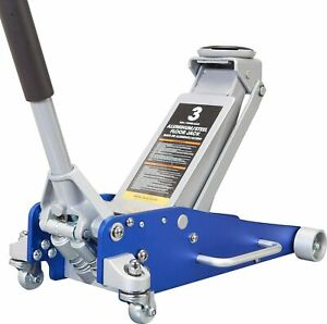 Hydraulic Low Profile Aluminum And Steel Racing Floor Jack Withdual Piston Pump
