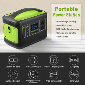 568wh Solar Portable Power Station 500w Portable Generator Emergency Powersupply