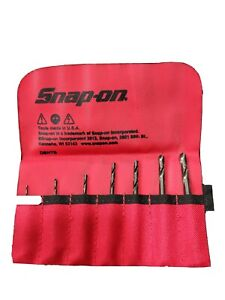 New Snap on Machine Screw Length Dbh7b Hex Shank Drill Bits In Red Pouch