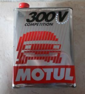 Vintage France french oil can tin MOTUL 300V Competition auto old 2 L C $18.90