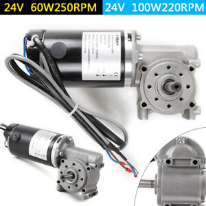 Dc 24v Right Angle Electric Worm Gear Motor Door Gear Motor Encoder Brushed Ip44