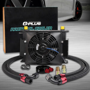 Fit For Universal 30 Row 10an Transmission Oil Cooler 7 Electric Fan Kit