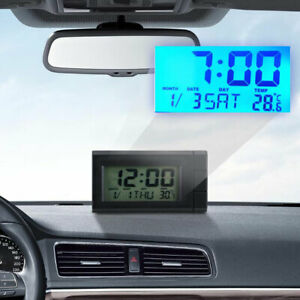 Mini Car Auto Digital Led Electronic Time Clock Thermometer With Backlight Us