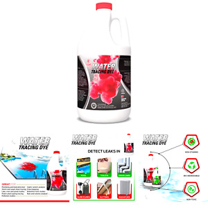 Red Water Tracing Leak Detection Flourescent Dye 1 Gallon