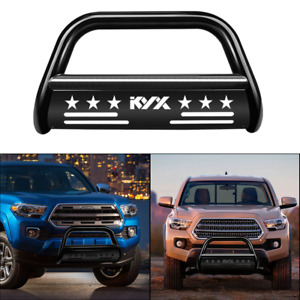 For 2016 2020 Toyota Tacoma 3 Bull Bar Grille Guard Front Bumper Black Steel