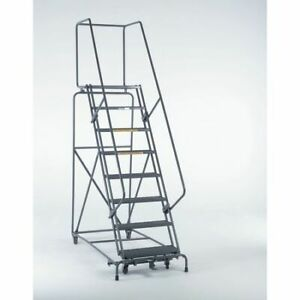 Ballymore 103214psu 10 Steps 100 H Steel Rolling Ladder 450 Lb Load Capacity