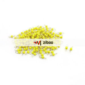 200pcs Pcb Board Yellow Ceramic Bead Test Endpoint Pin Gold Tone 10mm Length kd