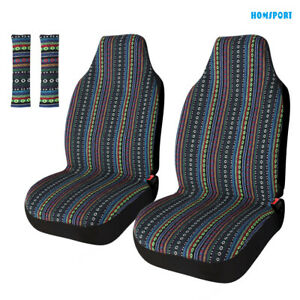 Universal Car Front Baja Seat Cover Set Saddle Blanket Bucket Seat Cover 4pc
