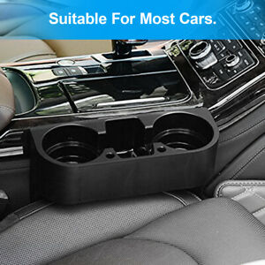 Car Seat Seam Wedge Cup Holder Phone Food Drink Bottle Stand Storage Organizer