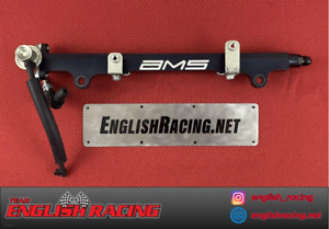 Ams Mitsubishi Lancer Evolution X Single Black Fuel Rail W Damper Evo 10