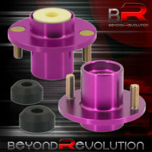 For 1988 2000 Civic Crx Del Sol Jdm Shocks Strut Tower Top Hat Bushing Bump Purp