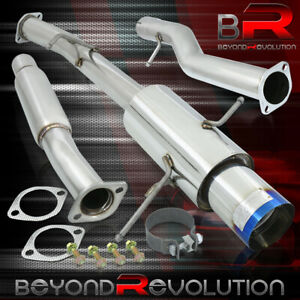 For 2002 2007 Subaru Impreza Wrx Sti 4 5 Burnt Muffler Tip Catback Exhaust