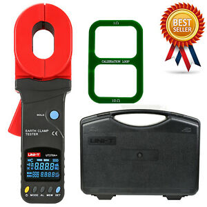 Uni t Ut278a Clamp Earth Tester Resistance Data Storage Visual audible Alarm kd