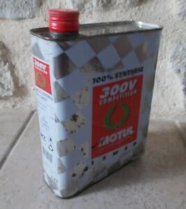 VINTAGE OIL CAN France french tin MOTUL 300V COMPETITION auto old 2 L $23.50