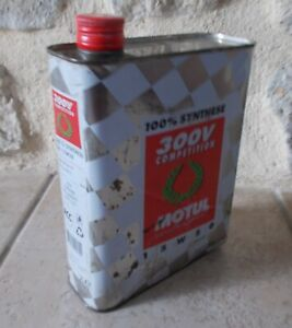 Vintage France french oil can tin MOTUL 300V COMPETITION auto old 2 L C $32.00